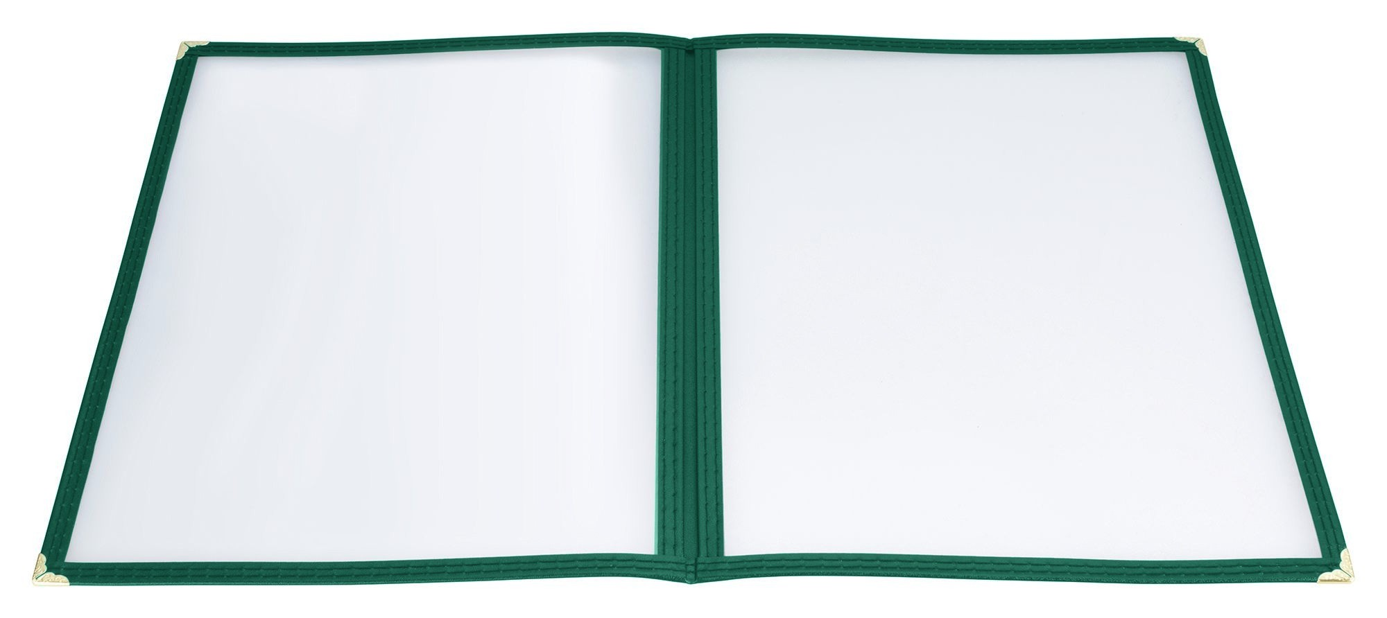 "Winco PMCD-9G Green Double Fold Menu Cover 9-1/2"" x 12"""