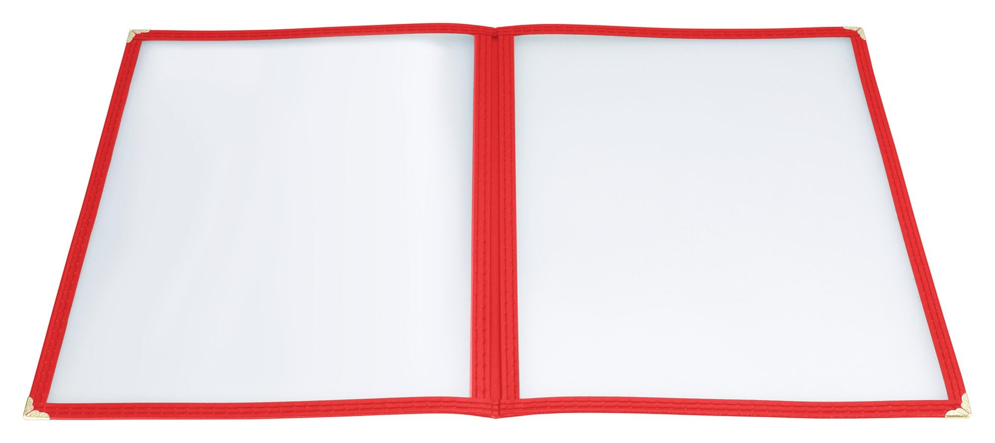 "Winco PMCD-9R Red Double Fold Menu Cover 9-1/2"" x 12"""