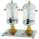 Double Juice Dispenser with Gold Accents, 7-1/2 Qt