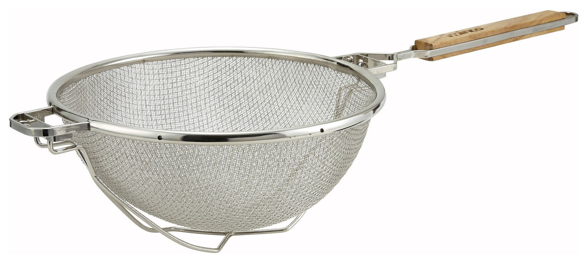 Winco mst-10rb Double Mesh Strainer with Reinforced Bowl 10-1/2""