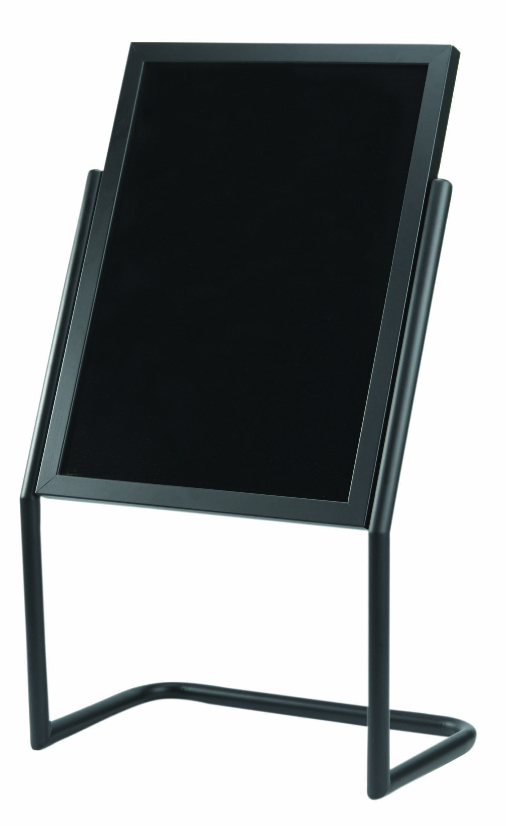 Aarco Products P-17BK Double Pedestal Free Standing Display/Broadcaster Black Frame with Markerboard