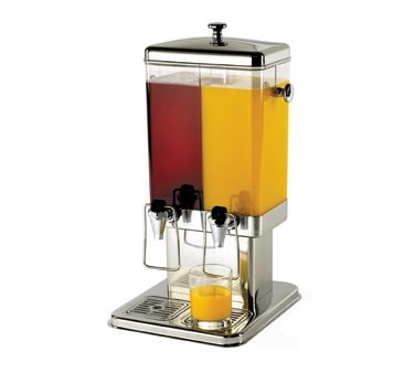 Double Reservoir 3-Gallon Beverage Dispenser With Base