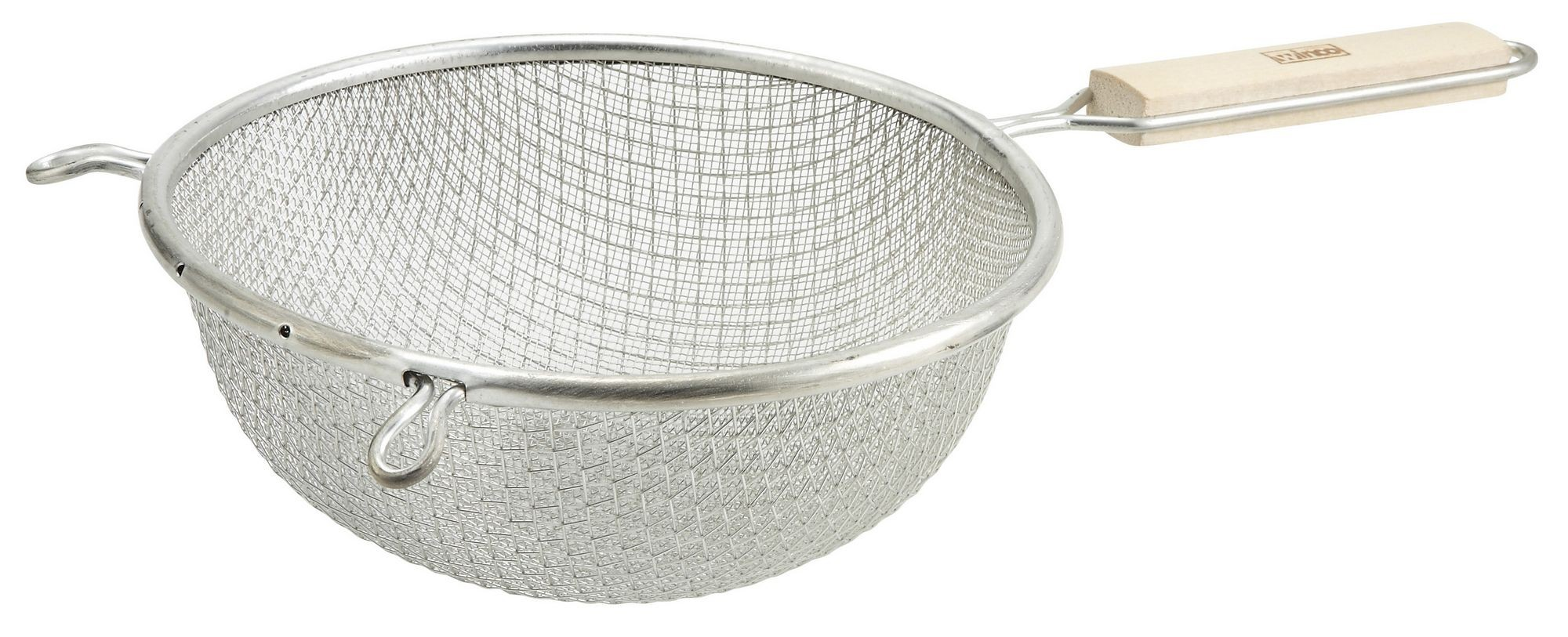 """Winco MST-8D Double Mesh Medium Strainer with Wood Handle 8"""""""