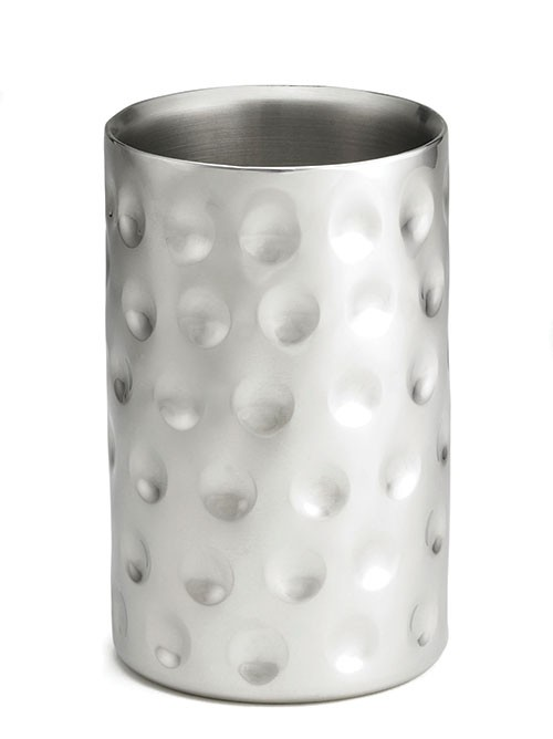 "TableCraft R37 Bali Round Double Wall Stainless Steel Wine Cooler, 4-3/4"" x 7-1/4"""