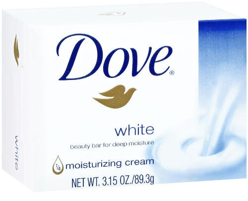 Dove Bar Soap, White, 3.15 Oz