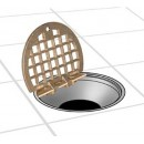Franklin Machine Products  102-1153 Hinged Brass Floor Drain Grate 5-1/2