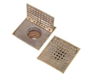 Franklin Machine Products  102-1135 Bronze Hinged Floor Drain Grate 7 3/8