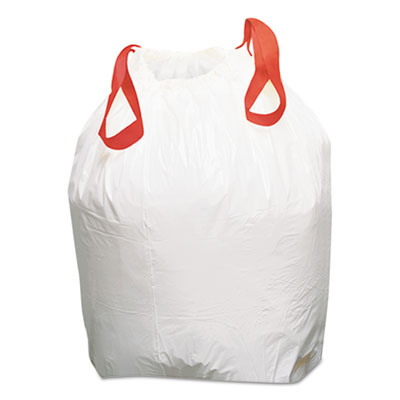 Drawstring Low-Density Can Liners, 13 gal, 0.8 mil, 24.5