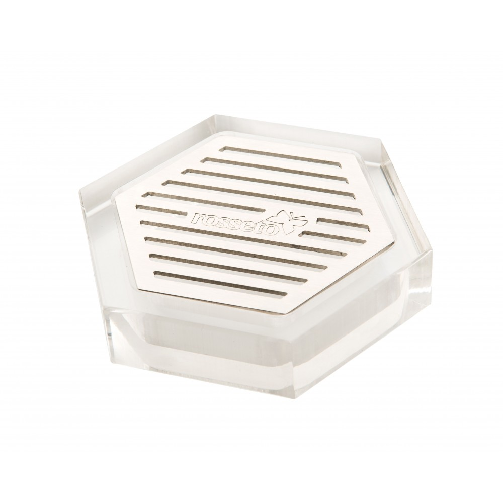 Rosseto LD107 Honeycomb™ Acrylic Drip Tray With Stainless Steel Insert For Beverage Dispensers