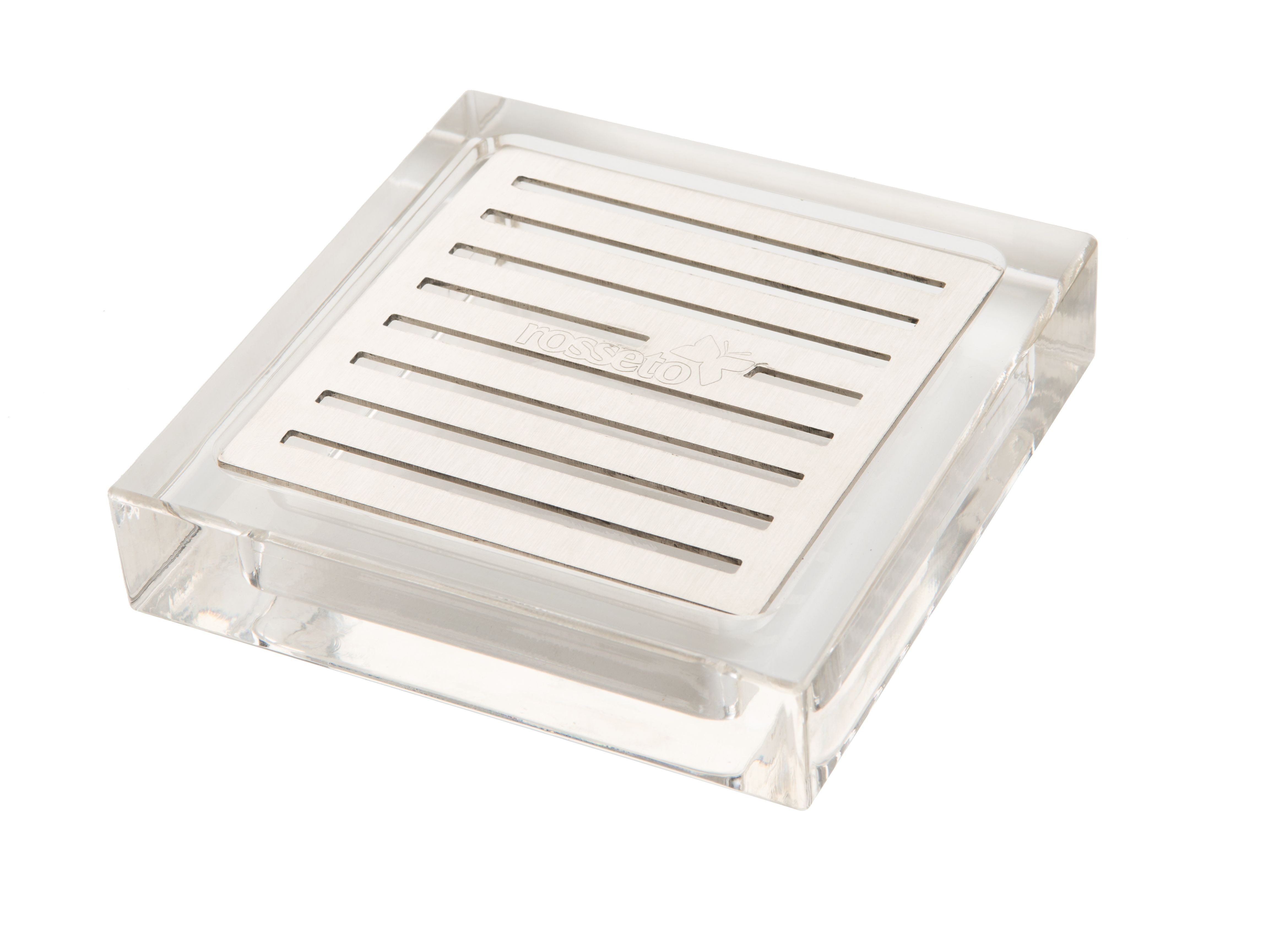 Rosseto LD108 Rosseto Square Acrylic Drip Tray With Stainless Steel Insert For Beverage Dispensers