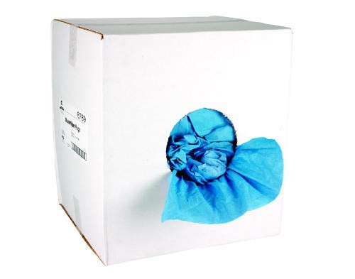 Dura Wipe Blue Creped Towels, 14 X 14