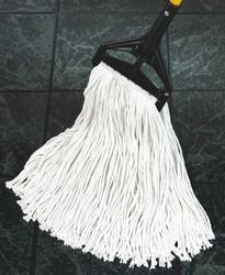 Dust Mop Heads, Blended, White, 24 x 5, Cut-End, Blended Yarn