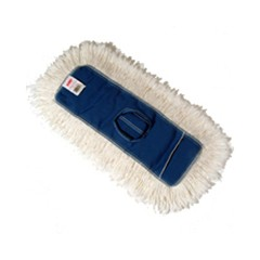 Dust Mop Heads, Kut-A-Way, White, 18 x 5, Cut-End, Cotton