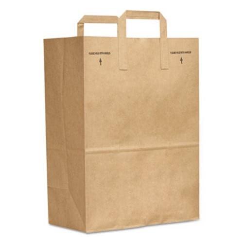 E-Z Tote Handle Sack, Brown, 70 lbs Capacity, 1/6 BBL, 12