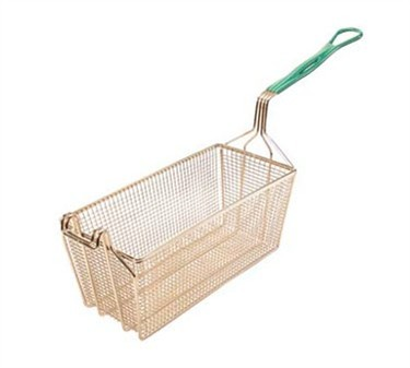"Franklin Machine Products  225-1071 EZ Grip Fry Basket with Twin Hooks 17-1/8"" x 5-3/4"""