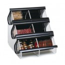 Rosseto EZO739 Double Unit, Six Compartment Black Acrylic EZ-Organizer