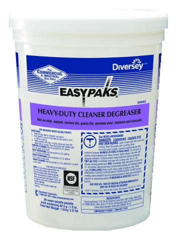 Easy Paks� Heavy-Duty Cleaner/Degreaser, 36 Packets per Tub