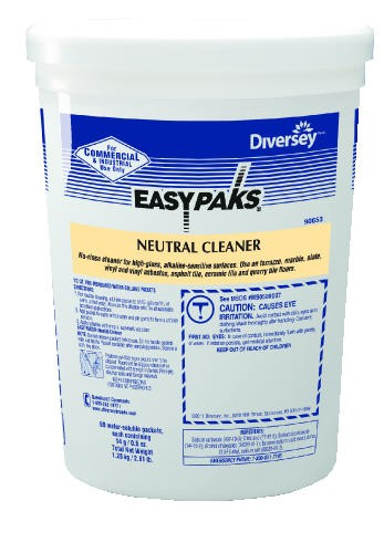 Easy Paks� Neutral Cleaner, 90 Packets/Tub