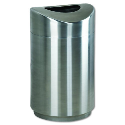 Eclipse Satin Stainless Steel Fire-Safe Steel Receptacles