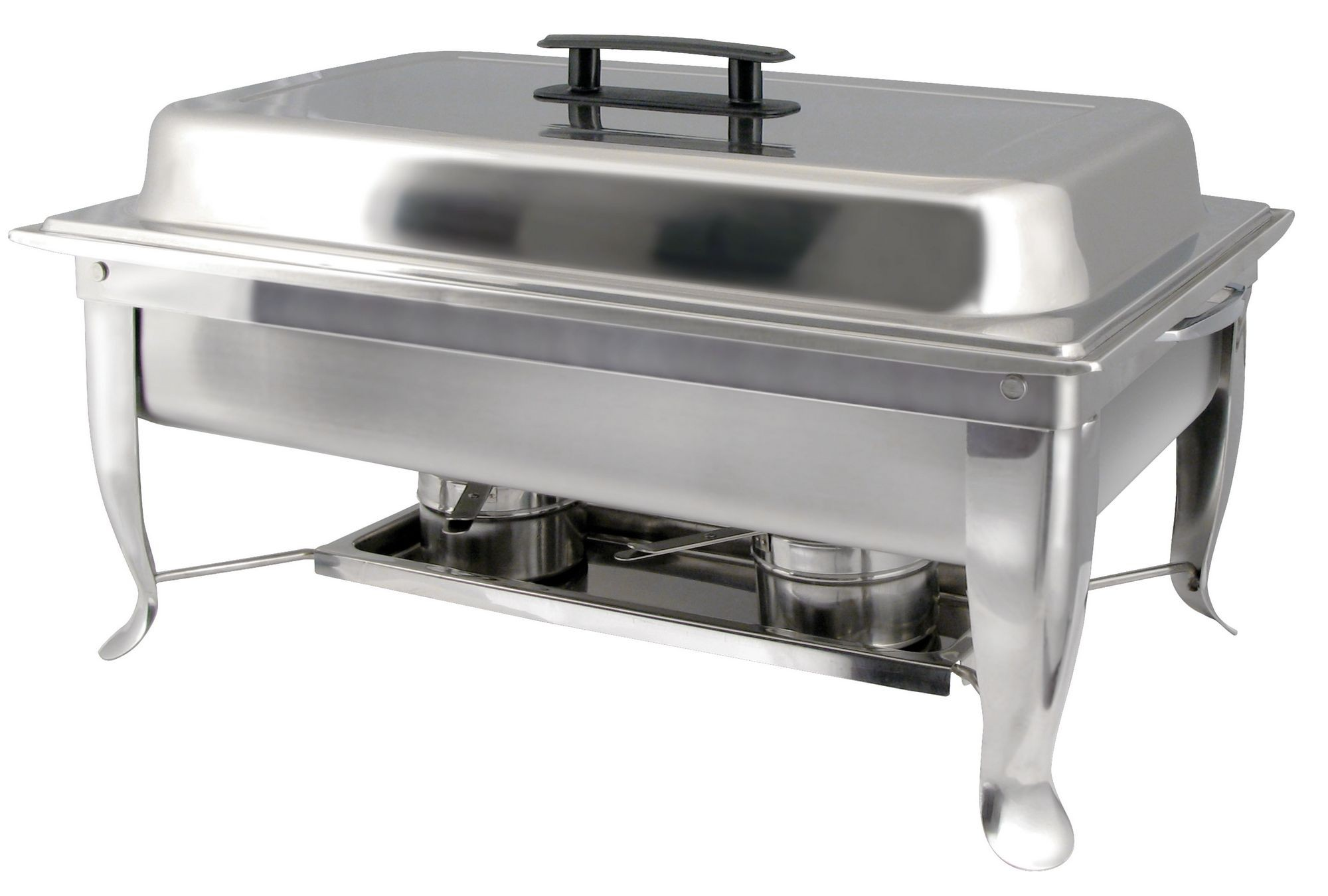 Winco C-1080 Eco-Chafer 8 Qt. with Polished Cover and Folding Frame