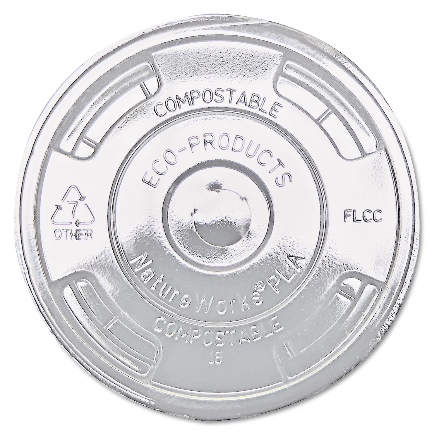 Eco-Products GreenStripe Renewable and Compost Cold Cup Flat Lids for 9-24 oz.,1000/Carton