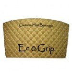 Eco-Products,Inc. EcoGrip Renewable Resource Compostable / Recyclable Cup Sleeve, Kraft (Box of 1300)