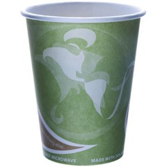 Eco-Products,Inc. Evolution World 24% PCF Hot Drink Cups, Sea Green, 12 oz (Box of 1000)