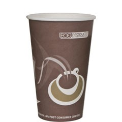 Eco-Products,Inc. Evolution World 24% PCF Hot Drink Cups, 20 oz, Gray (Box of 1000)
