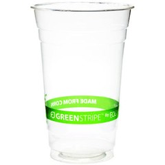 Eco-Products,Inc. GreenStripe PLA Cold Cups, 20oz, Clear (Box of 1000)