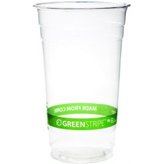 Eco-Products,Inc. GreenStripe PLA Cold Cups, 24oz, Clear (Box of 1000)