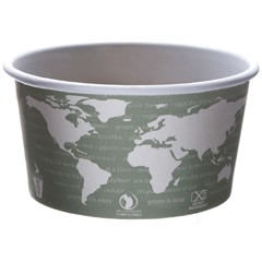 Eco-Products,Inc. World Art PLA-Lined Soup Containers, 12oz, Gray/White (Box of 500)