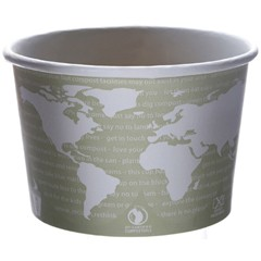 Eco-Products,Inc. World Art PLA-Lined Soup Containers, 16oz, Gray/White (Box of 500)