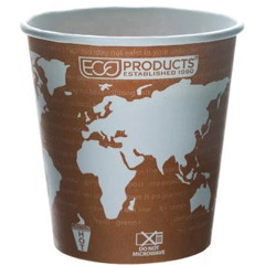 Eco-Products,Inc. World Art Renewable Resource Compostable Hot Drink Cups, 10 oz, Rust (Box of 50)