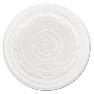 EcoLid Renew and Comp Food Container Lids for 12 oz, 16 oz, 32 oz, 50/Pack, 10 Packs/Carton