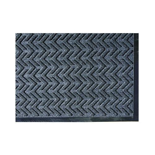 EcoPlus Wiper/Scraper Mat, P.E.T. Polyester, 35 x 59, Charcoal
