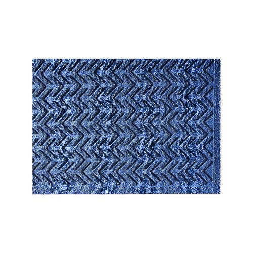 EcoPlus Wiper/Scraper Mat, P.E.T. Polyester, 35 x 59, Midnight Blue