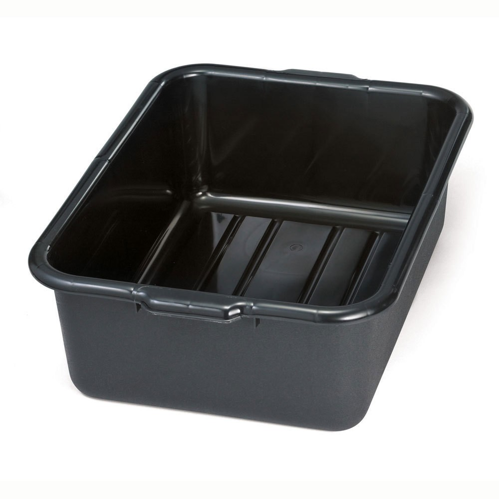 "TableCraft 1537E Recycled Black Tote Box 21-1/4"" x 15-3/4"" x 7"""