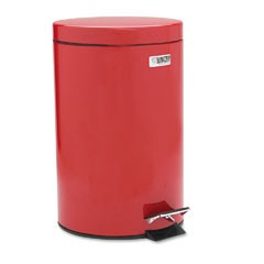 Economical Step Can, Round, Steel, 3 1/2 gal, Red