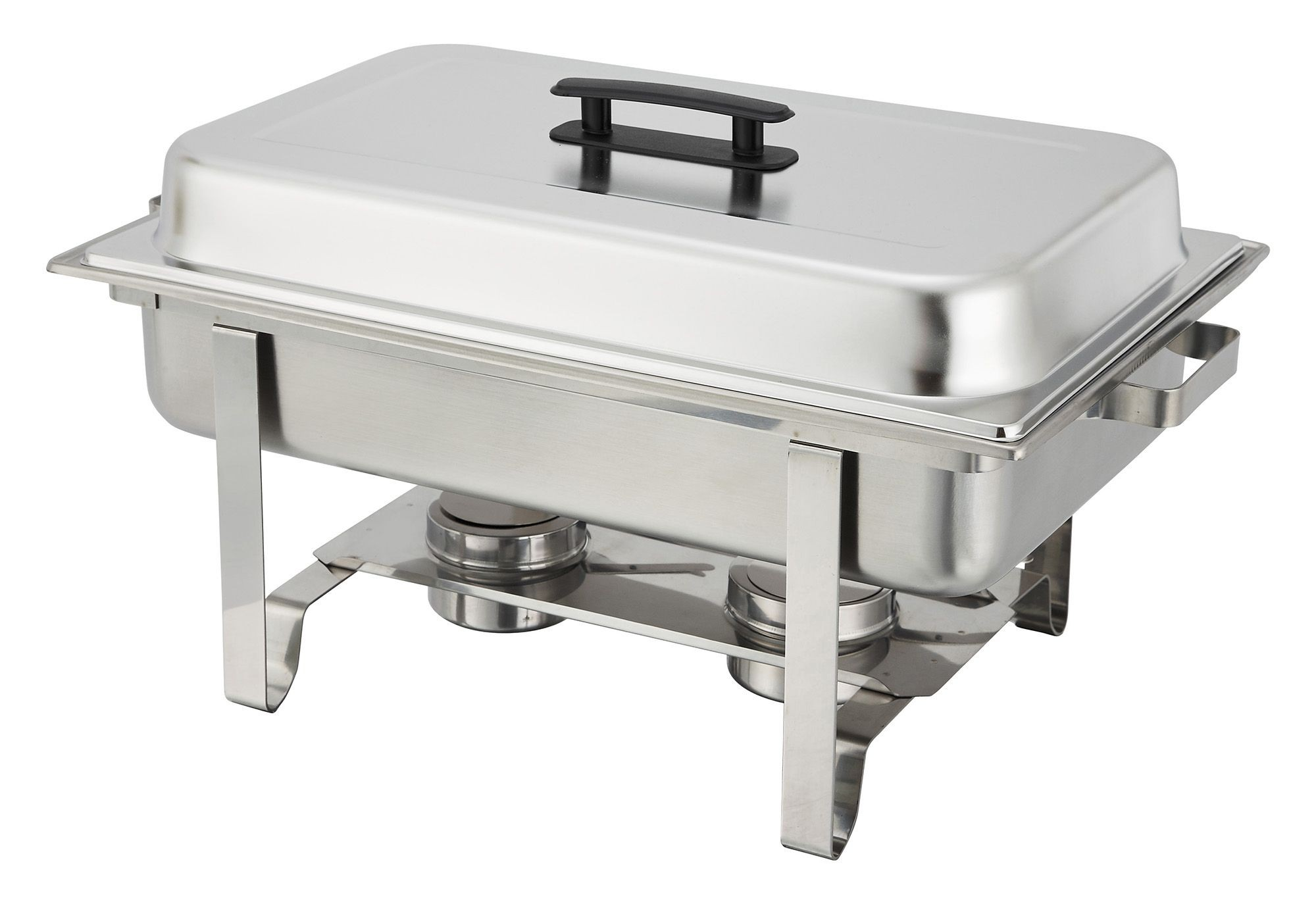 Winco C-3080B Newburg 8 Qt. Stainless Steel Chafer
