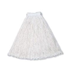 Economy Cotton Mop Heads, Cut-End, Cotton, White, 24 oz, 1-in. White Headband