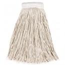 Economy Cotton Mop Heads, Cut-End, White, 24 oz, 5-In White Headband