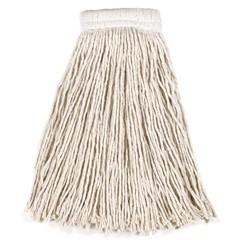 Economy Cotton Mop Heads, Cut-End, White, 24 oz. 5-In White Headband