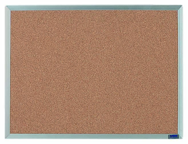 """Aarco Products AB1824 Economy Series Aluminum Frame Corkboard, 18""""H x 24""""W"""
