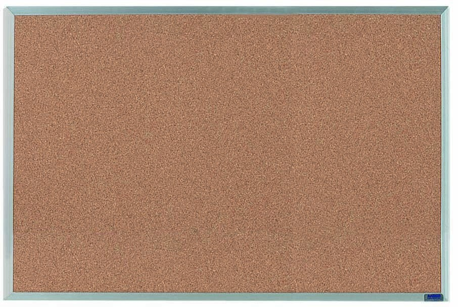 "Aarco Products AB2436 Economy Series Aluminum Frame Corkboard, 24""H x 36""W"