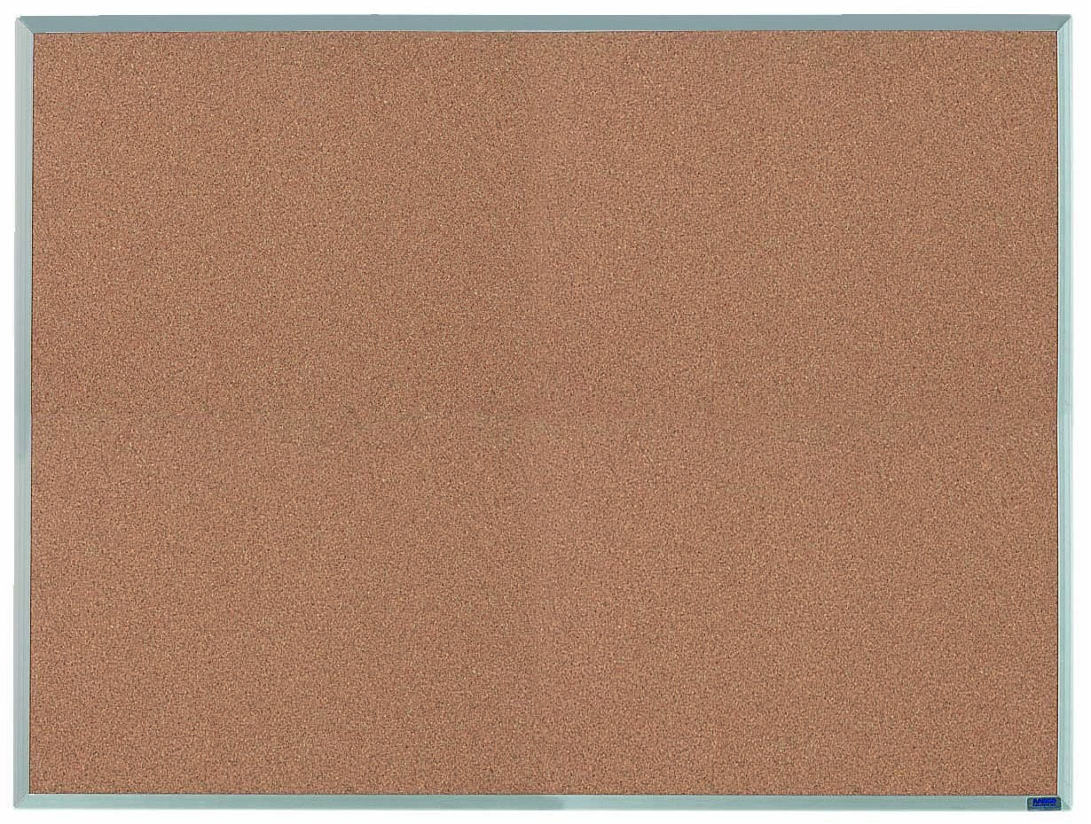 "Aarco Products AB3648 Economy Series Aluminum Frame Corkboard, 36""H x 48""W"