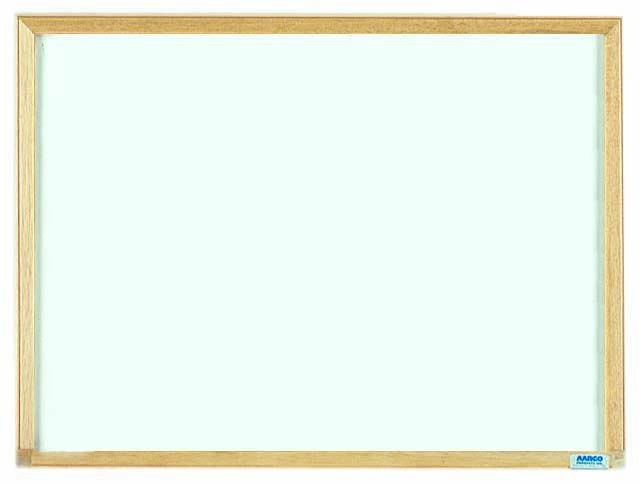 "Aarco Products EW1824 Economy Series Wood Frame Markerboard, 18""H x 24""W"