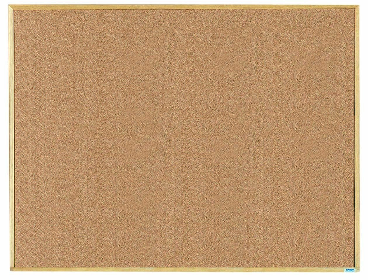 """Aarco Products EB3648 Economy Series Natural Pebble Grain Cork Bulletin Board with Wood Frame, 36 x 48"""""""