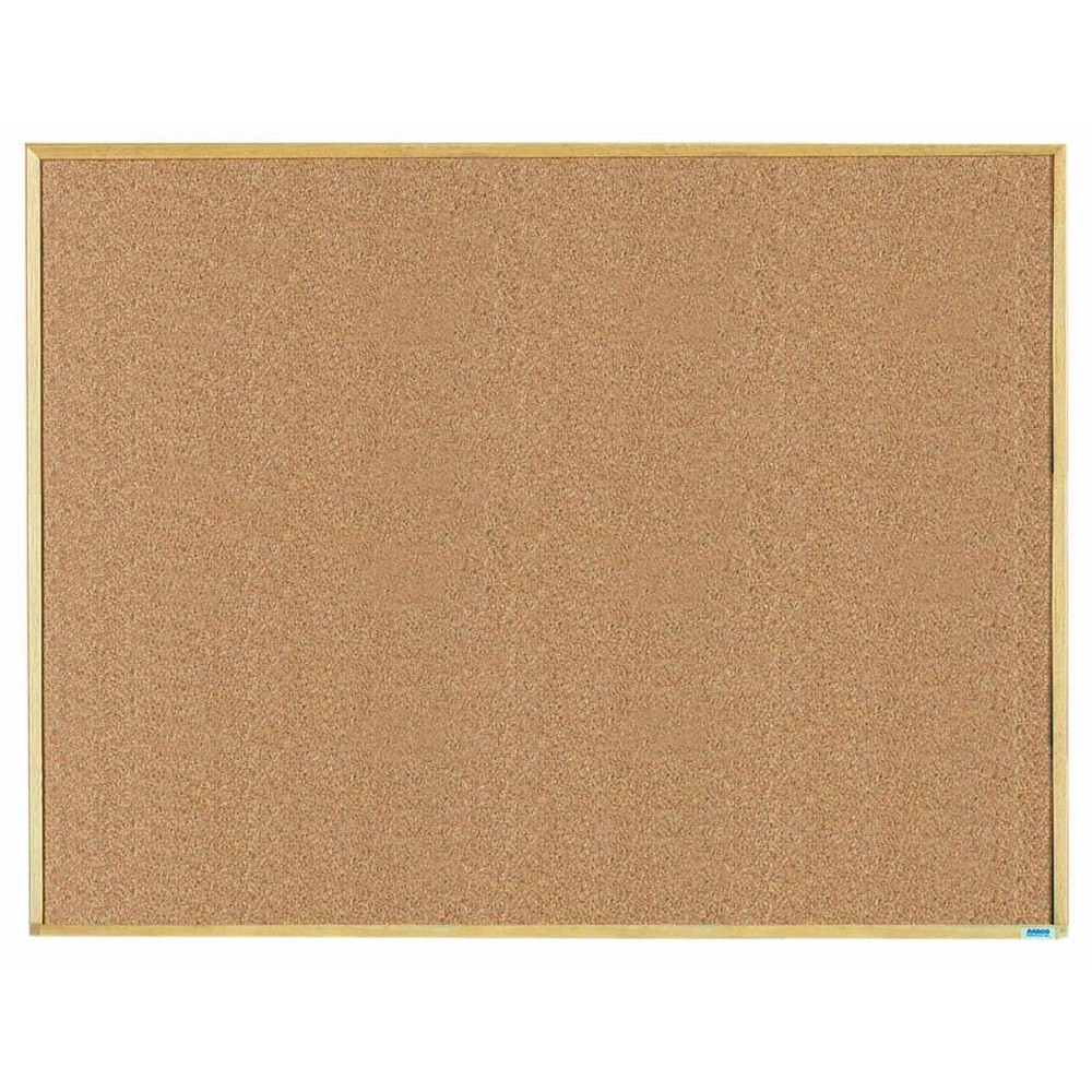 Economy Series Wood Frame Natural Cork Board - 36 X 48