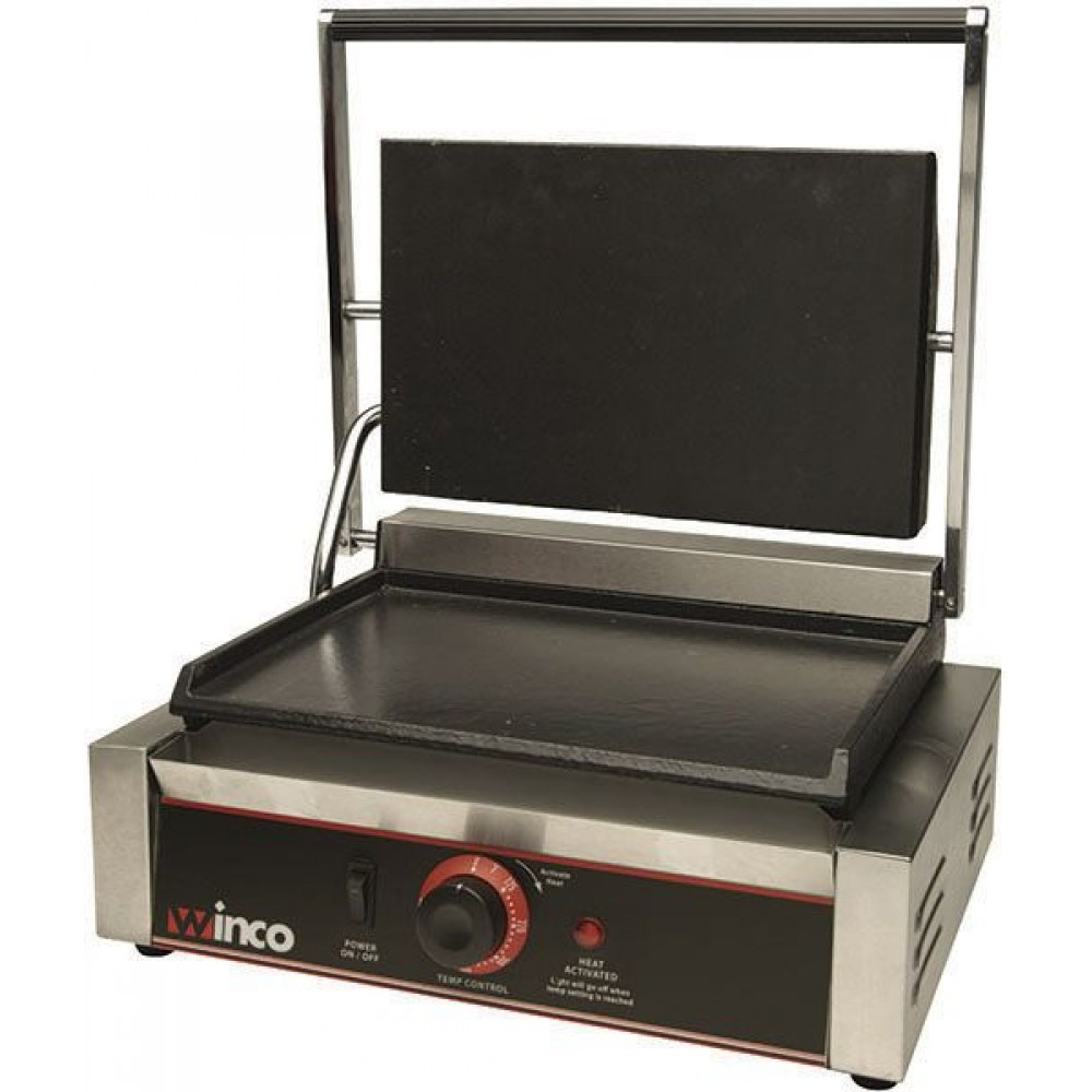 Winco Esg 1 Double Commercial Panini Press With Cast Iron