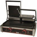 Winco ESG-2 Double Commercial Panini Press with Cast Iron Smooth Plates